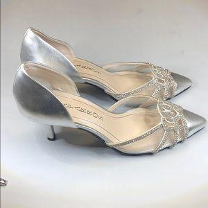 Caparros Shoes - (p247) Caparros Panzy Evening Pumps - Silver 6M